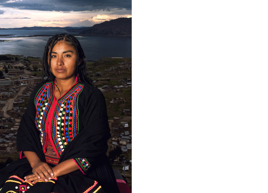 Jendy, Puno, Peru   After Mona Lisa, by Da Vinci, 1503  42 x 27 1/2 inches  Archival pigment print Edition 2/7