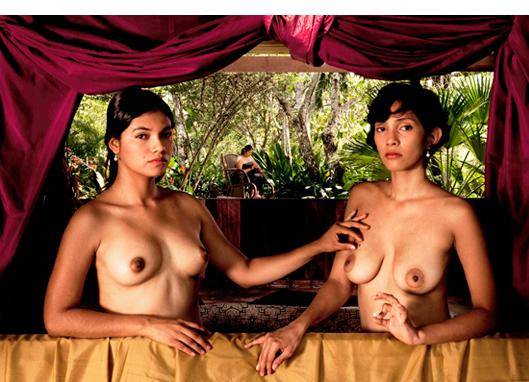 Frecia et Samy, Iquitos, Peru  After Gabrielle D'Estrees et sa soeur 27 1/2 x 39 1/2 inches Archival pigment print Edition 2/7