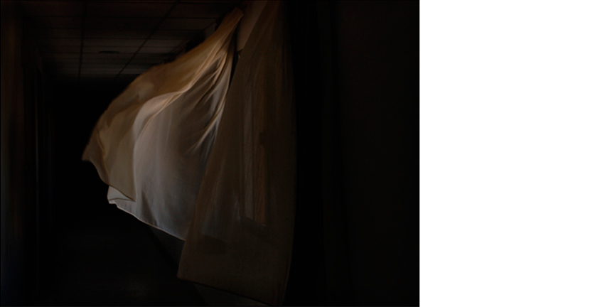 LUIS LAZO  Curtains, 2009   from All That You Leave  17 x 23 inches  C-print, edition 1/5