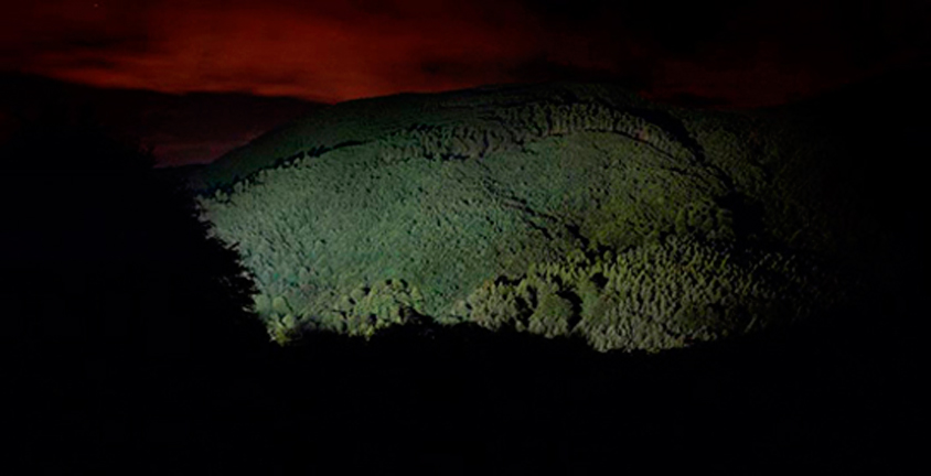 CARLOS IRIJALBA  Twilight 12, 2009   49 x 96 inches  C-print mounted on aluminum, edition 2/5