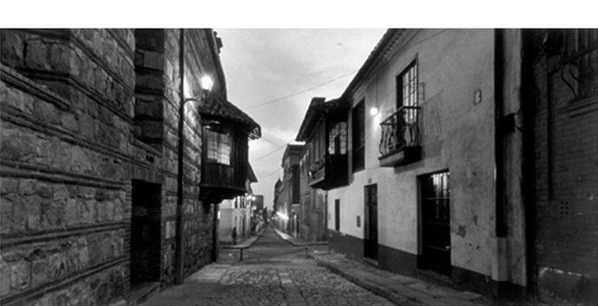 MARIO ALGAZE  Calle Camerin del Carmen, 2005  Bogota, Colombia 20 x 24 inches (paper size) Selenium toned silver gelatin print