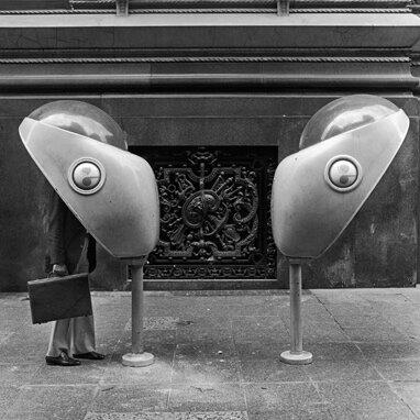 Two Phones  Buenos Aires, 1984 Selenium toned silver gelatin print
