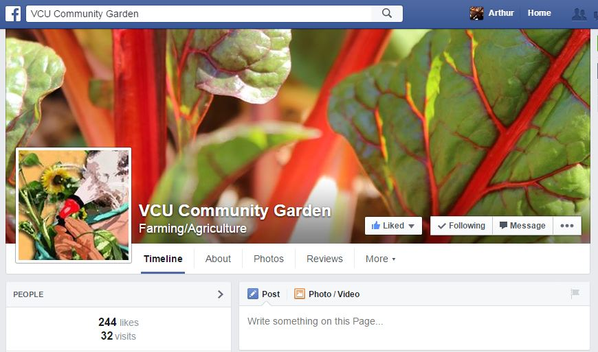 Created and managed social media outreach pages including graphic designs, plot signups & surveys, and taking & uploading photos  www.facebook.com/VCUCommunityGarden