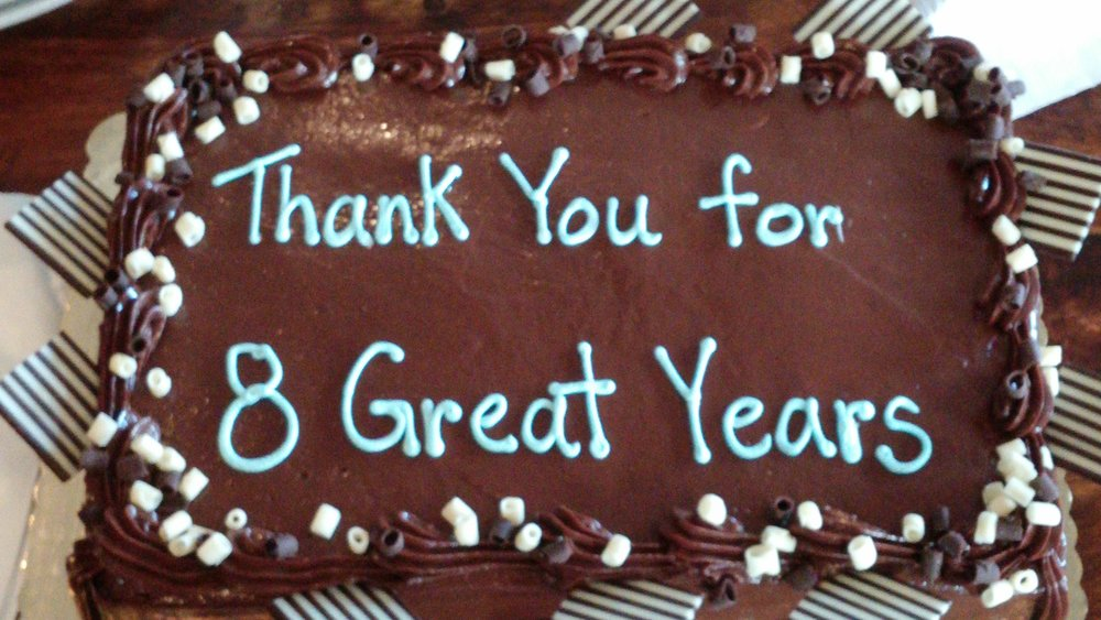 Our volunteer Appreciation cake in 2016