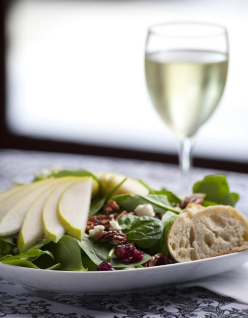 Redbud Cafe's Pear & Bleu Cheese Salad  •    photo: Bill Albrecht