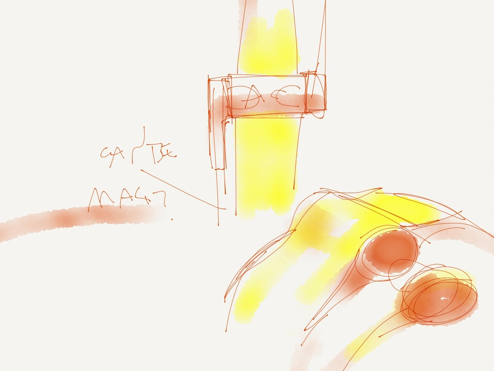 Image Credit: Ashley Chloe Inc., Ideation Sketch of Helix Cuff
