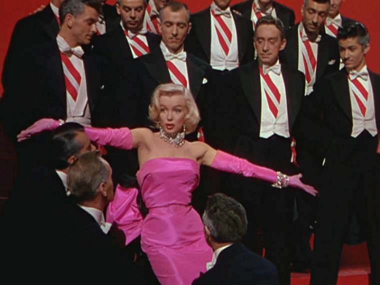 Hot Pink Satin Dress Worn by Marilyn Monroe