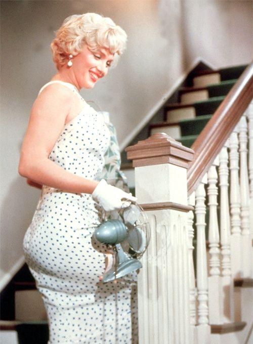 White Polka Dot Halter Dress Marilyn Monroe