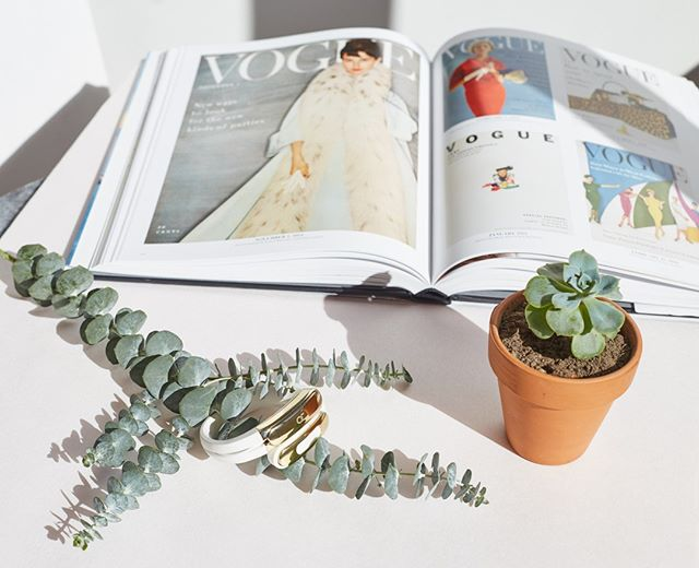 We have the most amazing coffee table book in the office that features Vogue covers from it's inception.  This book is so inspiring to peruse!  We love seeing the ways that fashion has evolved and the patterns that have emerged throughout the years!
