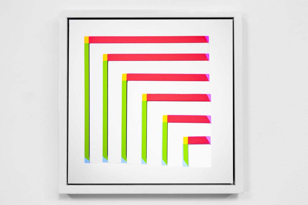 "Ink jet print mounted on panel 14x14"" 2013"