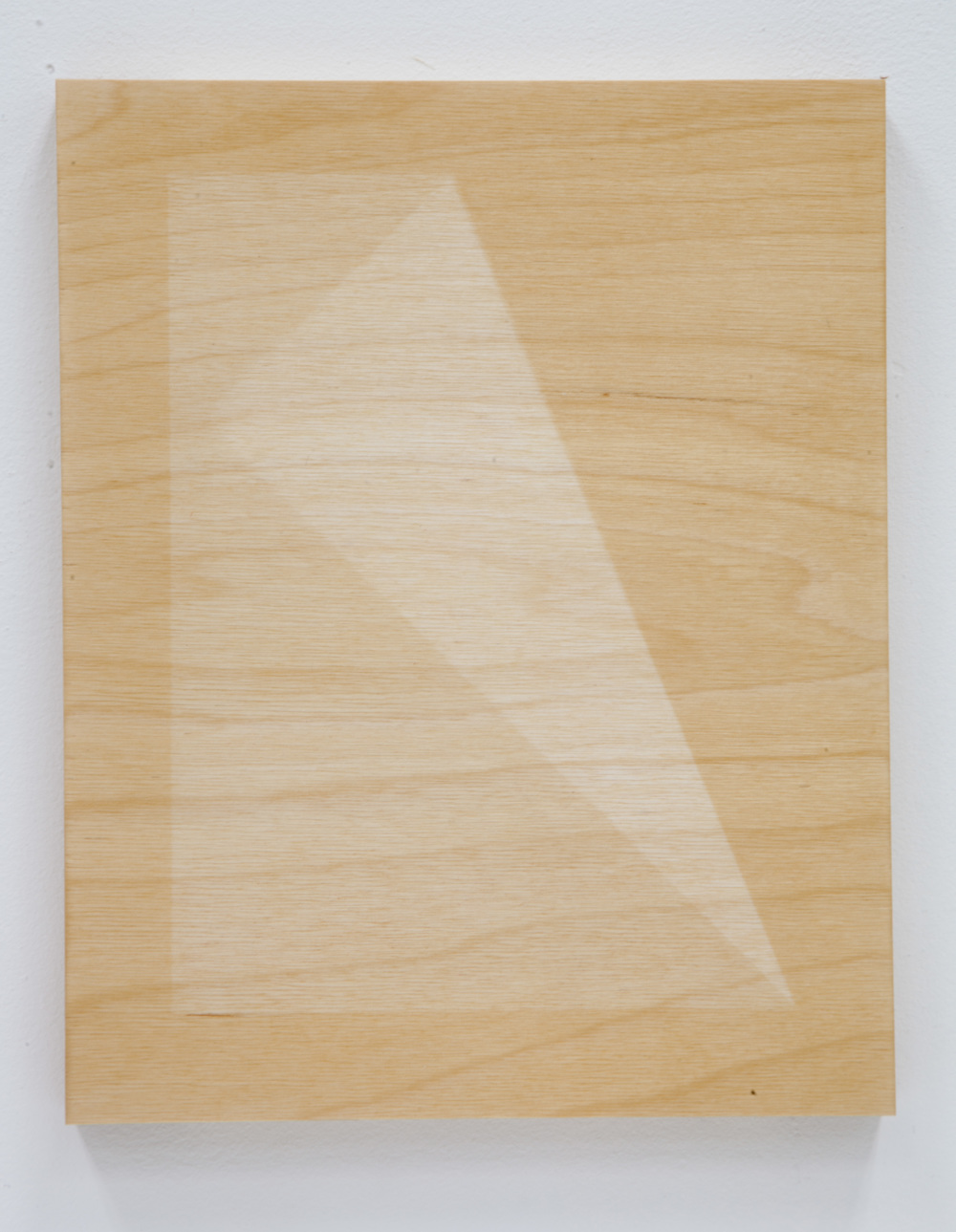 "Fold variation  11x14"" UV exposed birch plywood and lacquer  2014"