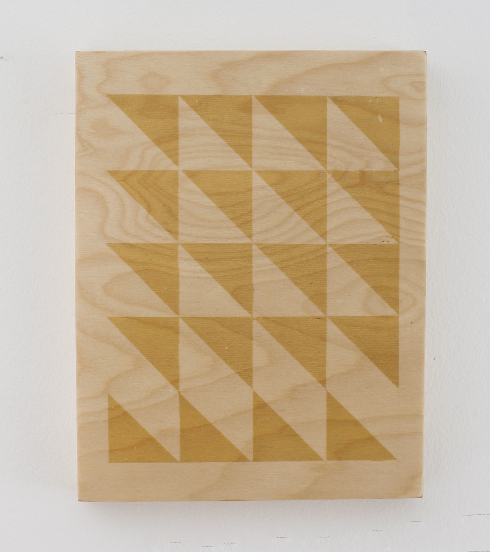 "Detroit Composition (variation) 8x10"" UV exposed birch plywood and lacquer  2014"