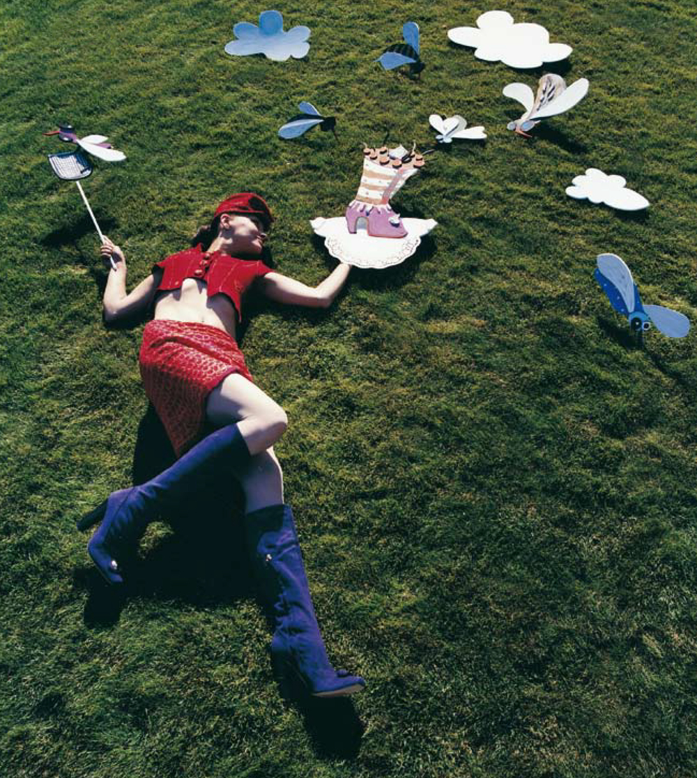 Escada/ Photography by Tine Drefahl for ICONOfly, dary of a boot, 2008