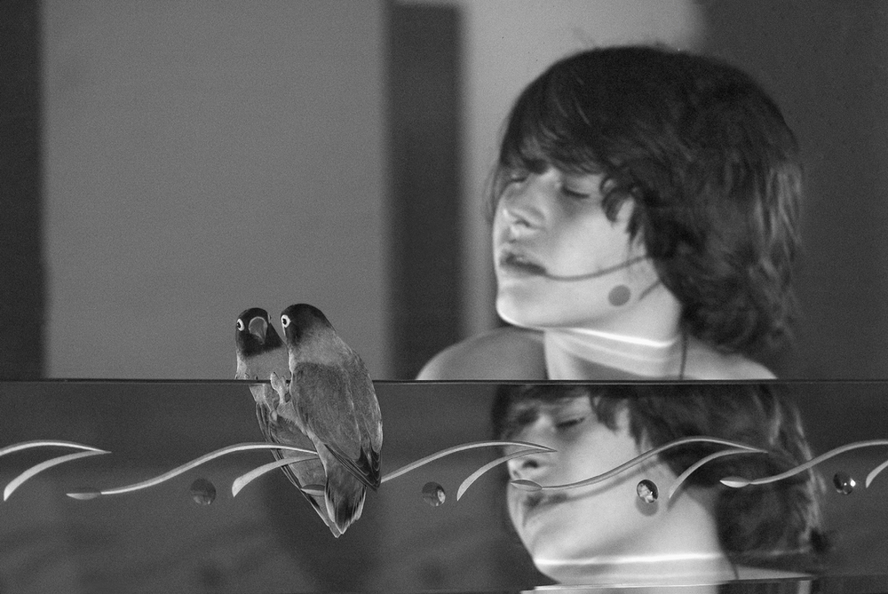 "'Dreamy Adolescent and Bird' from the ""Tête-à-Tête"" Project. credit: ©2004-2011 Martine Fougeron"