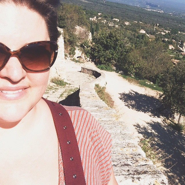 A selfie I opted to post...the version of myself in Provence that I did share with the world.