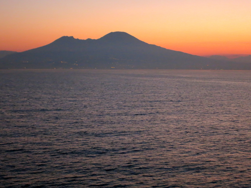 The ominous Mount Vesuvius. © 2014 Gail Jessen