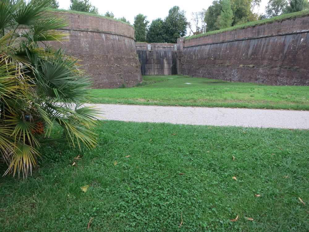 Our tour didn't make time for this, but if you visit Lucca on your own you can rent bicycles and ride around the top of the walls. © 2014 Gail Jessen