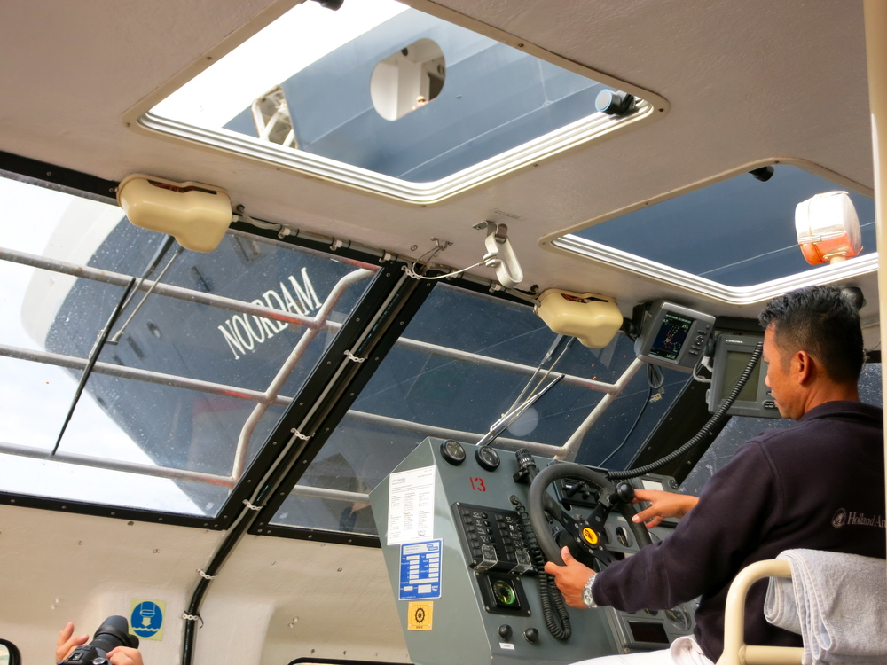 Our capable tender driver had us ashore in Calvi in less five minutes. © 2014 Gail Jessen
