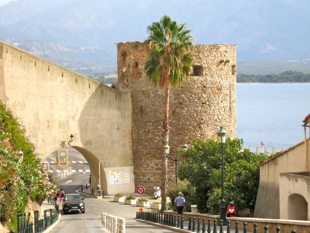 The tower that used to store salt in the Middle Ages speaks to Calvi's riches and historical prestige. © 2014 Gail Jessen