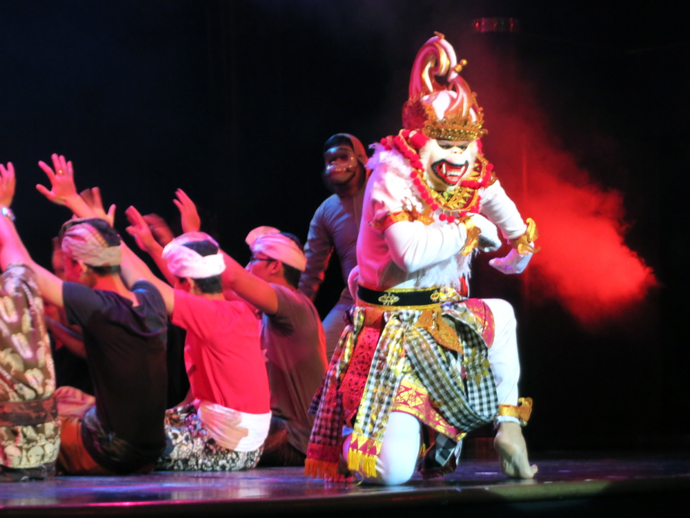The Indonesian crew put on a great show and passengers enjoyed celebrating their culture with them. © 2014 Gail Jessen