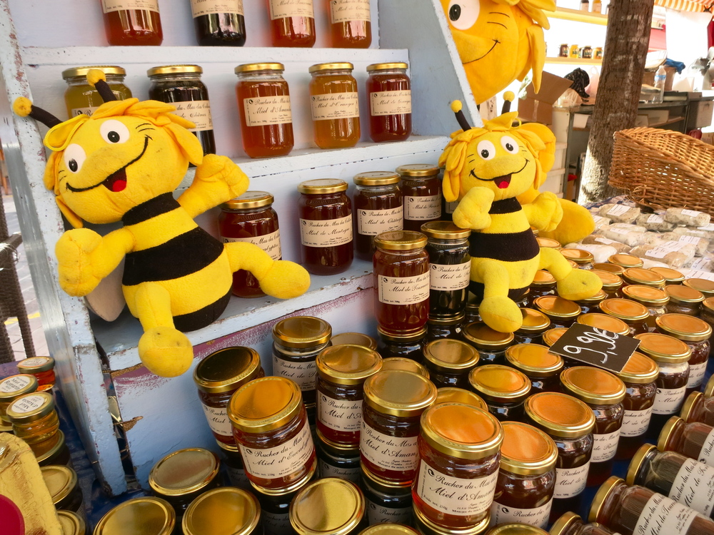 The Provence region is also known for its honey. I purchased four different varieties, distinguished by the other plants in the area that flavor the honey due to the bee's travels. © 2014 Gail Jessen