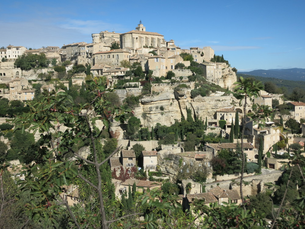 The view of Gourdes in the warm Provence sun is, as Olivier promised, a lasting memory. © 2014 Gail Jessen