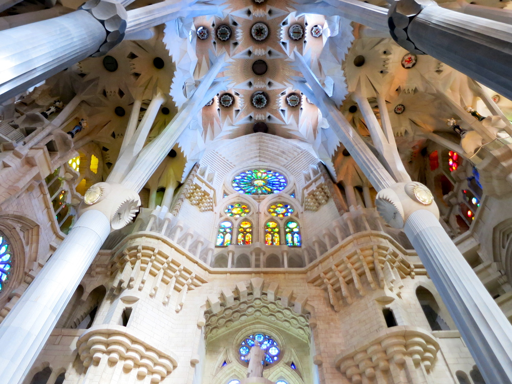 The details go on and on in La Sagrada Familia. I spent two hours there, took over 100 photos, and feel as though I barely scratched the surface. © 2014 Gail Jessen