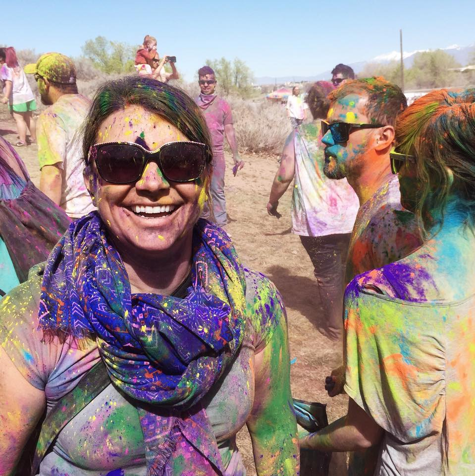 I went with a group of my workshop alum to the largest Holi Festival in the U.S. to celebrate the adventurous lives they're creating.  Arianne's first Core Desired Feeling is PLAYFUL...nailed it.