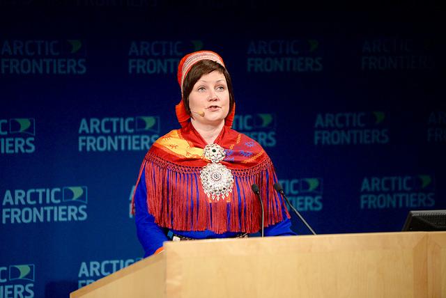 Aili Keskitalo.PERNILLE INGEBRIGTSEN/ARCTIC FRONTIERS 2016