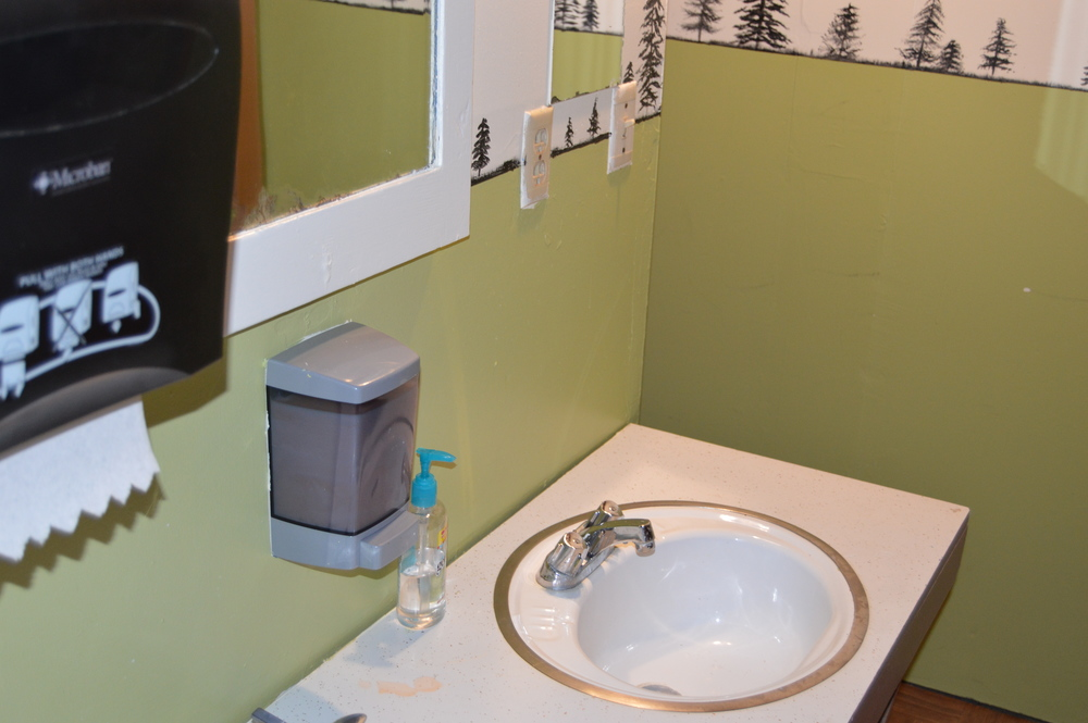 Dorm sink area