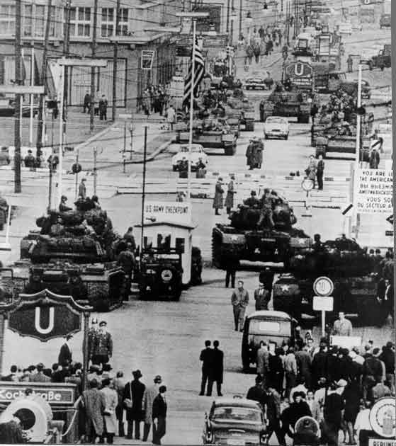 Soviet - US Standoff at Checkpoint Charlie, 1961
