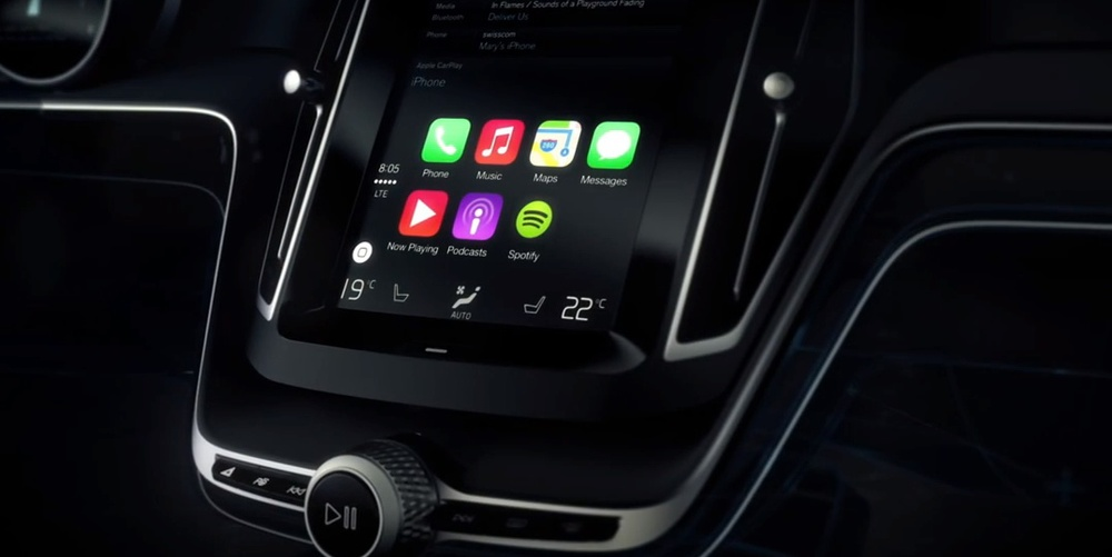 ios in the car renamed carplay and volvo give you a sneak peak. Black Bedroom Furniture Sets. Home Design Ideas