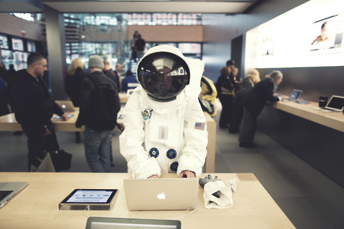 Astronaut in Apple Store
