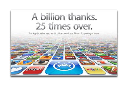 25 Billion Downloads on App store
