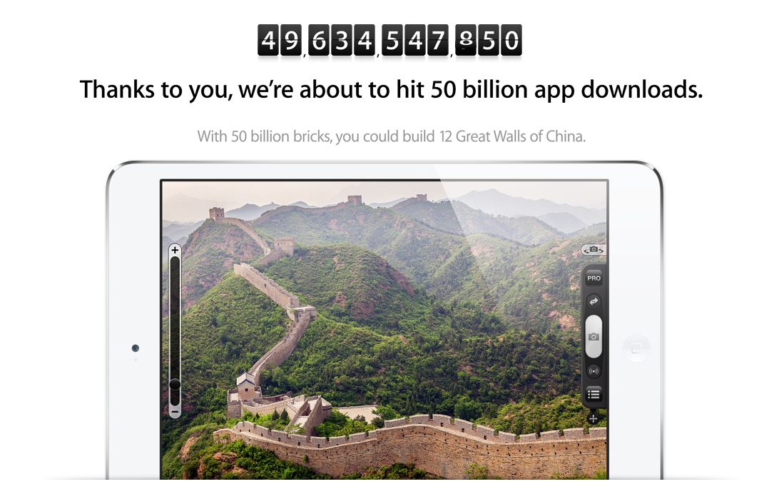 50th Billion App Download Great Wall of China