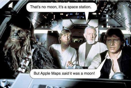 Apple Maps Star Wars Space Station