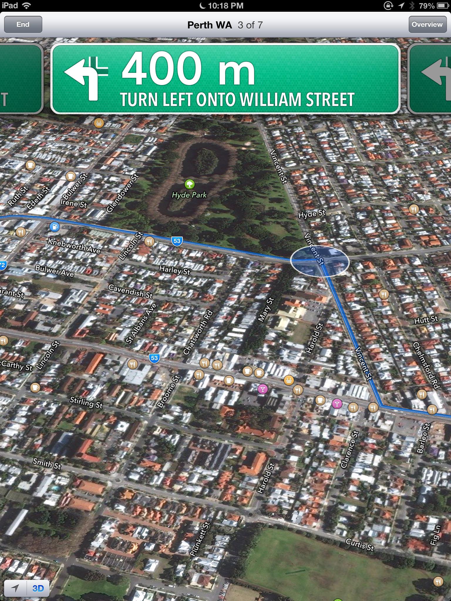 Apple Maps on iPad in iOS6
