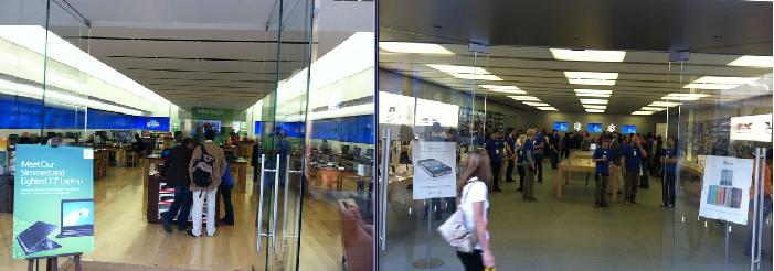 Apple Sore vs Microsoft Store