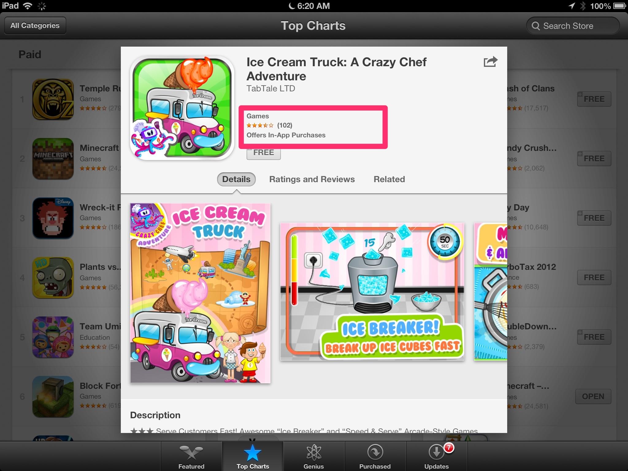 Apple adds In App Warning to Feemuim Games