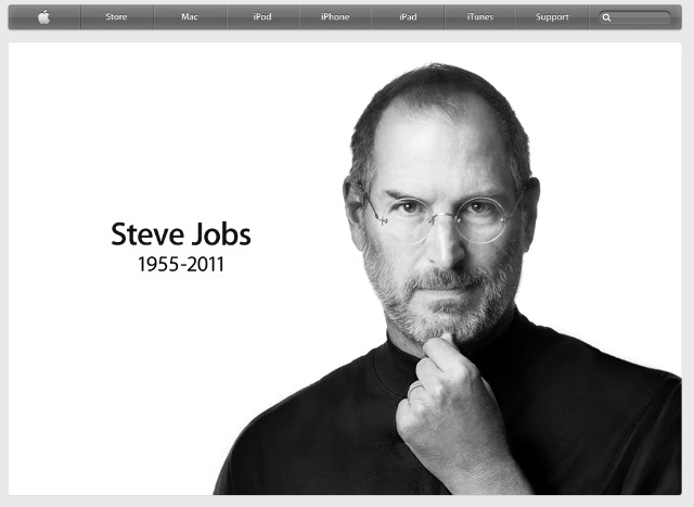 Apple's Steve Jobs Tribute Pag on their website