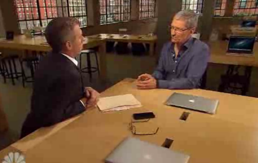 Brian williams and Tim Cook from Rock Center Interview