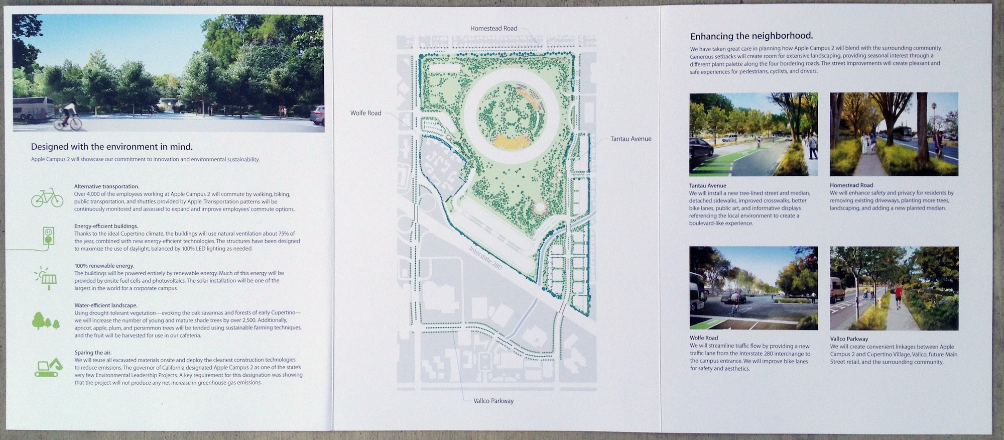 Brochure to residents for Apple Campus in Cupertino