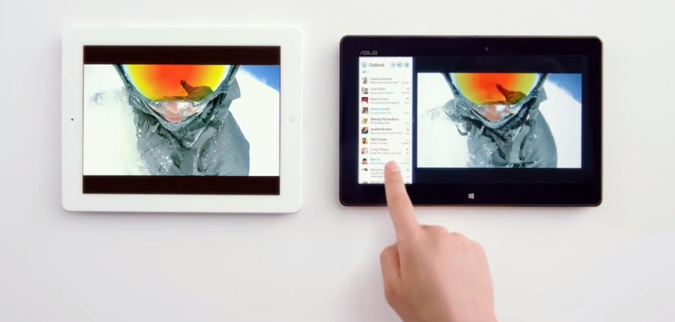 Microsoft vs Apple iPad TV spot