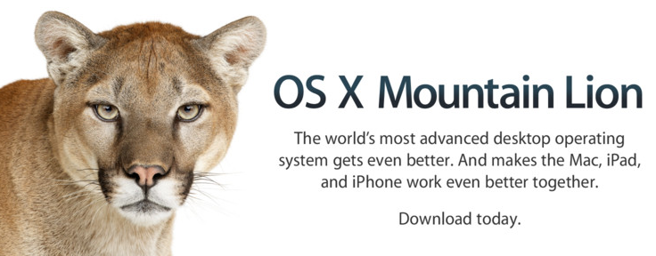 OSX Mountain Lion Available Now