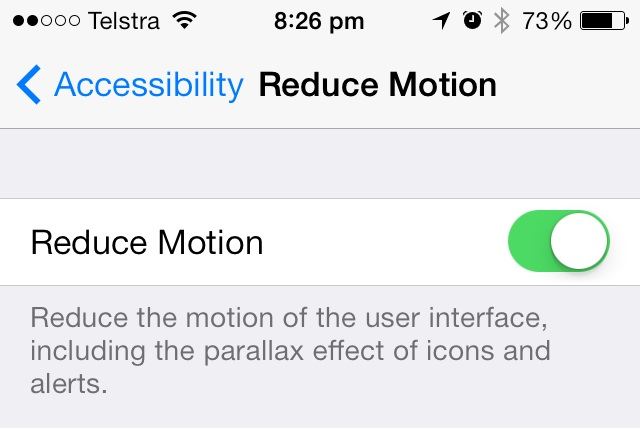 Reduce Motion