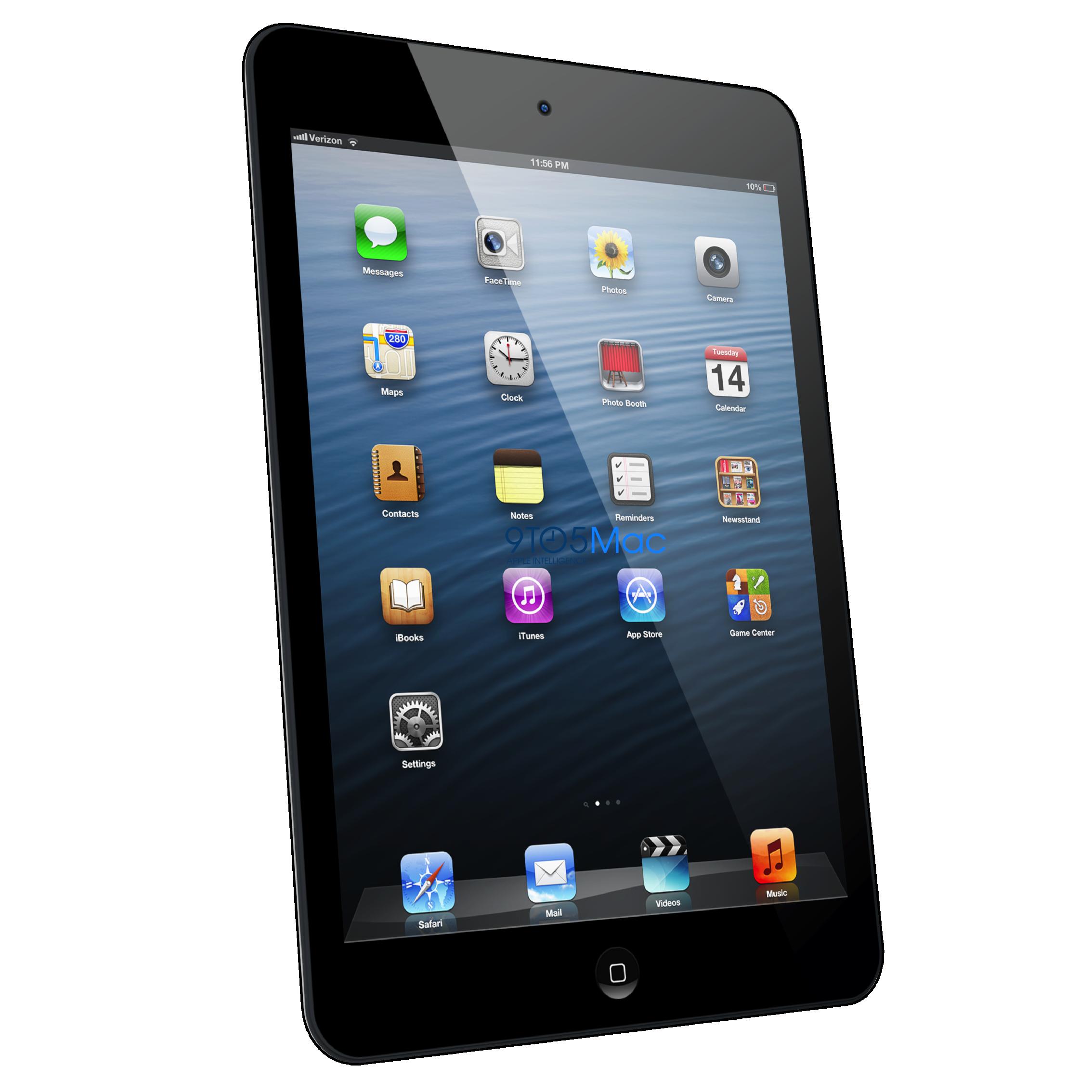 Rumoured iPad Mini in 3D