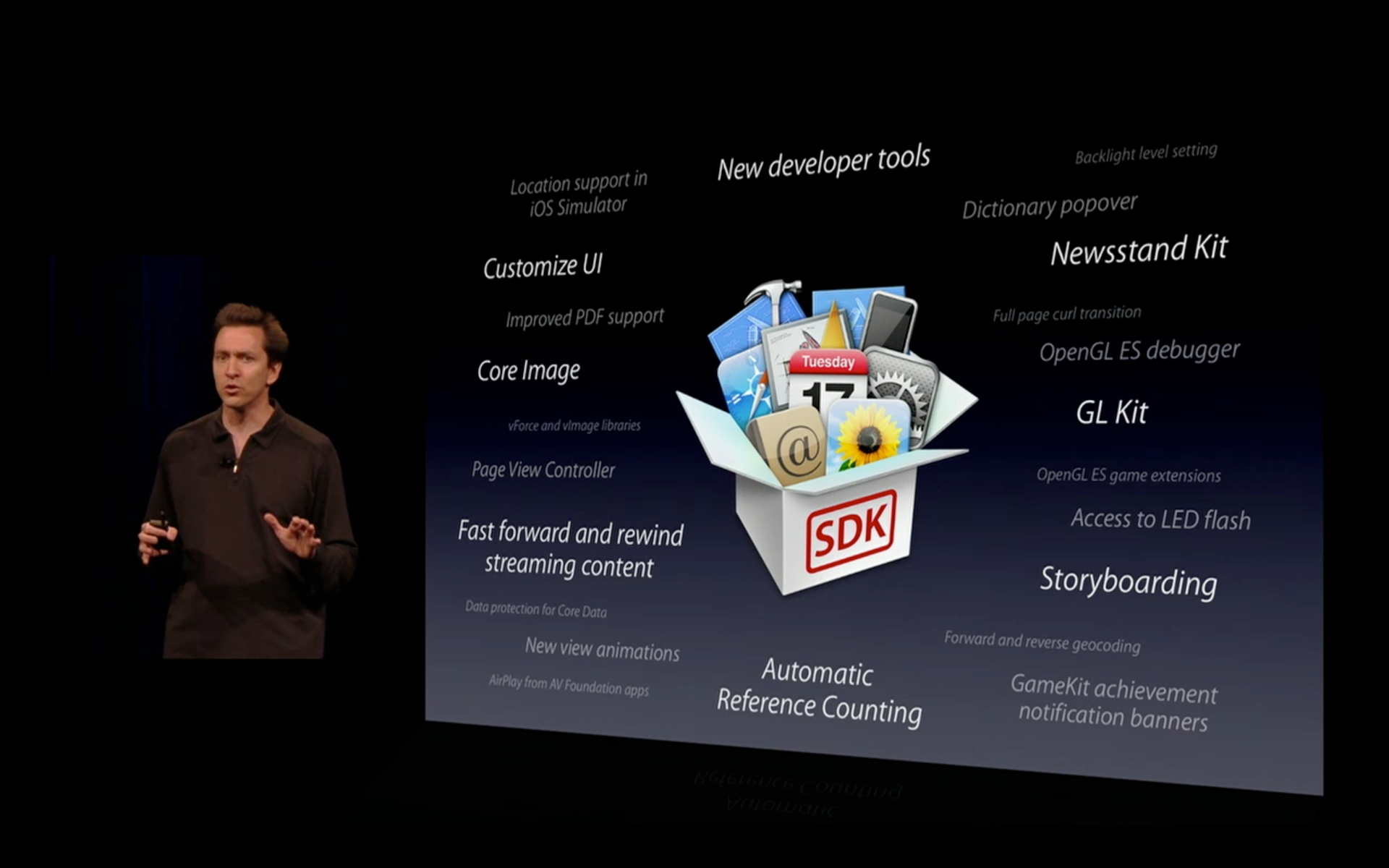Scott Forstall at Keynote