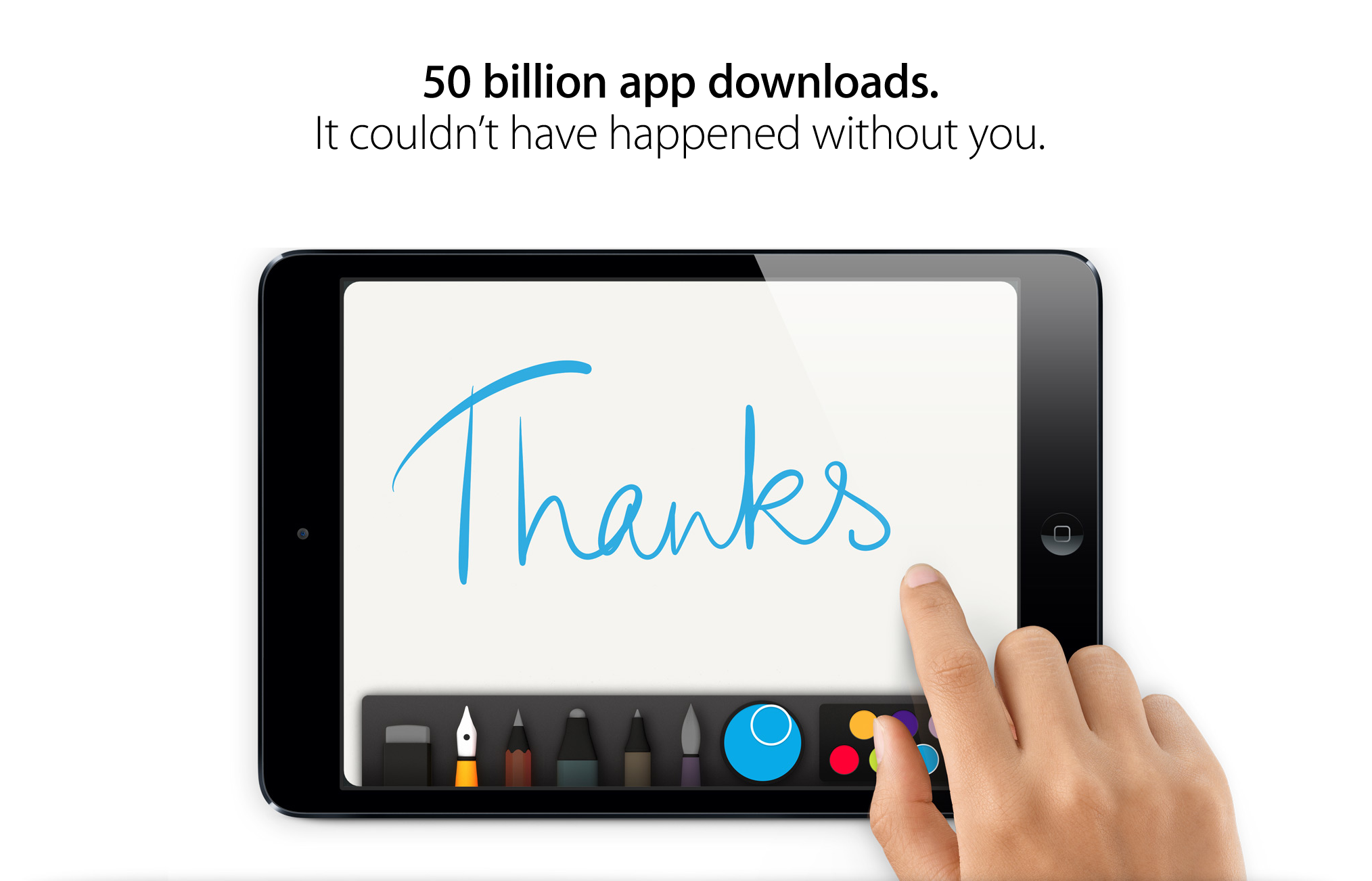 Thankyou 50 billion downloads app store