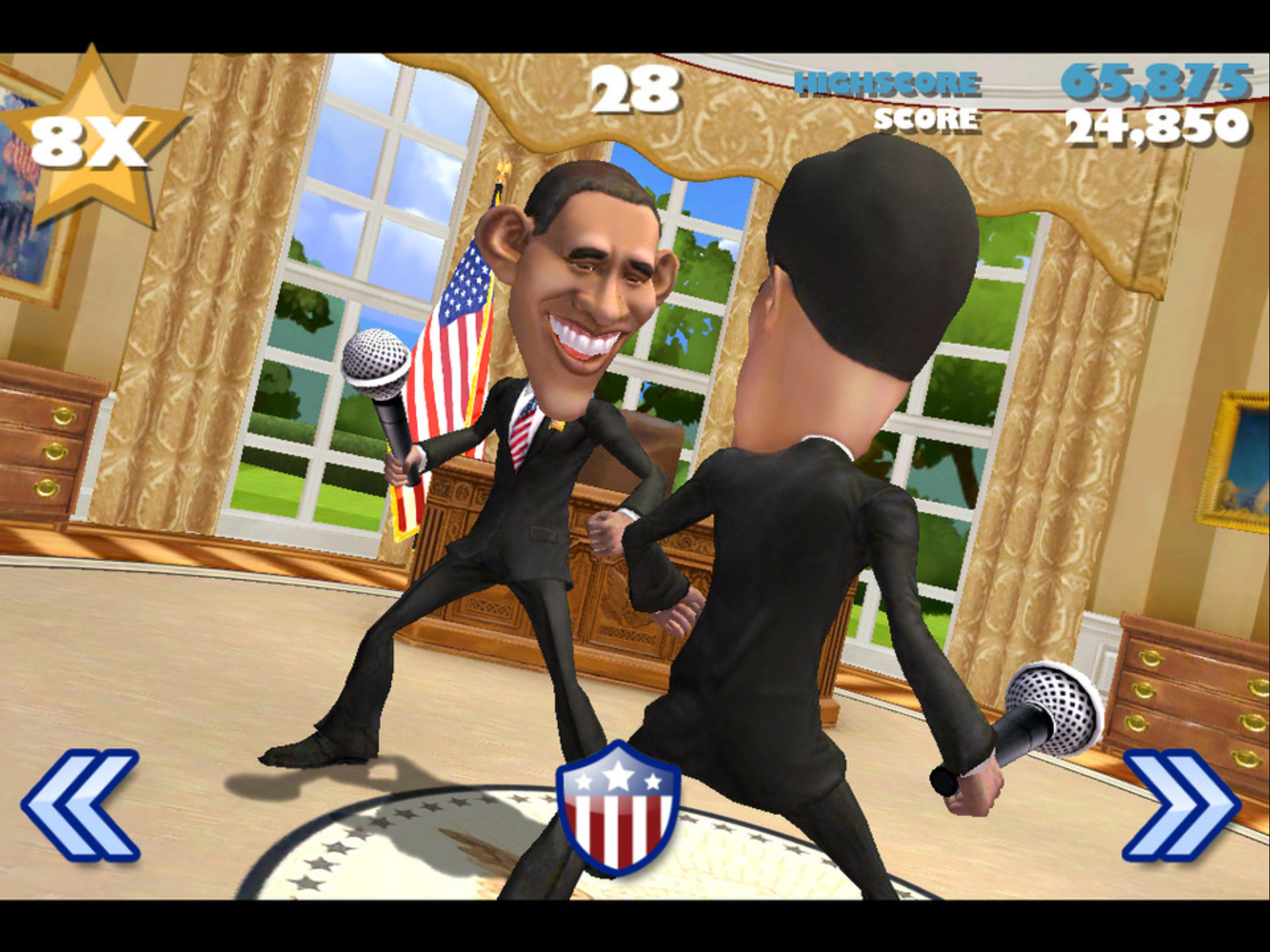 VOTE!!! President Obama vs Mitt Romney from the makers of Infinity Blade