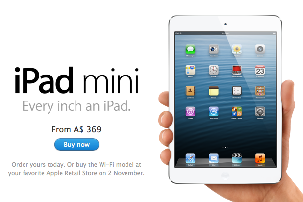 iPad Mini available for Pre-Order
